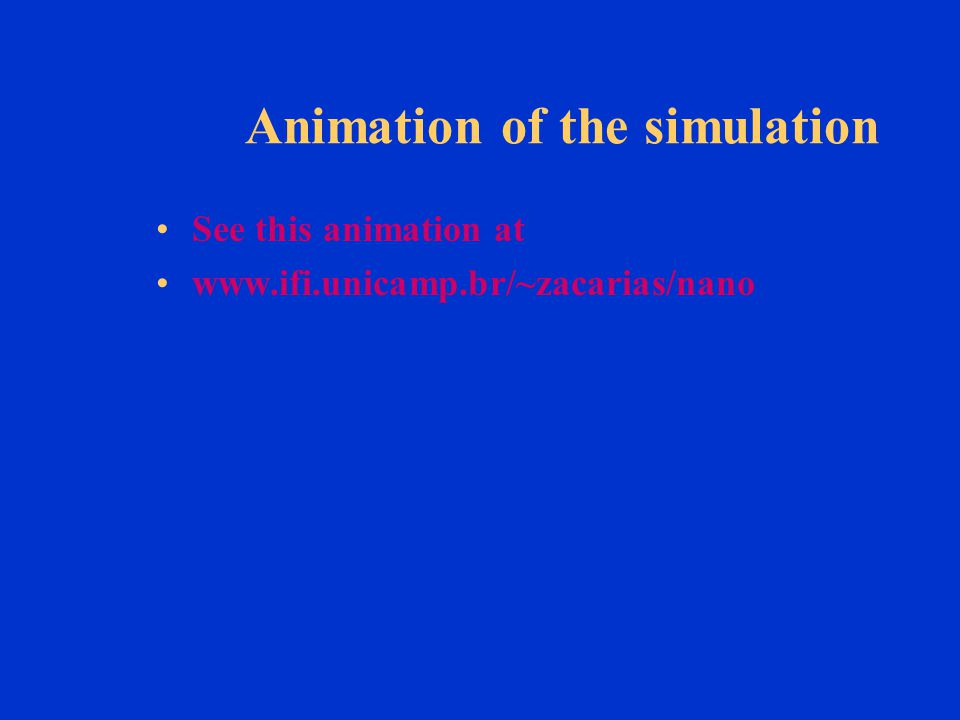 Animation of the simulation See this animation at www.ifi.unicamp.br/~zacarias/nano