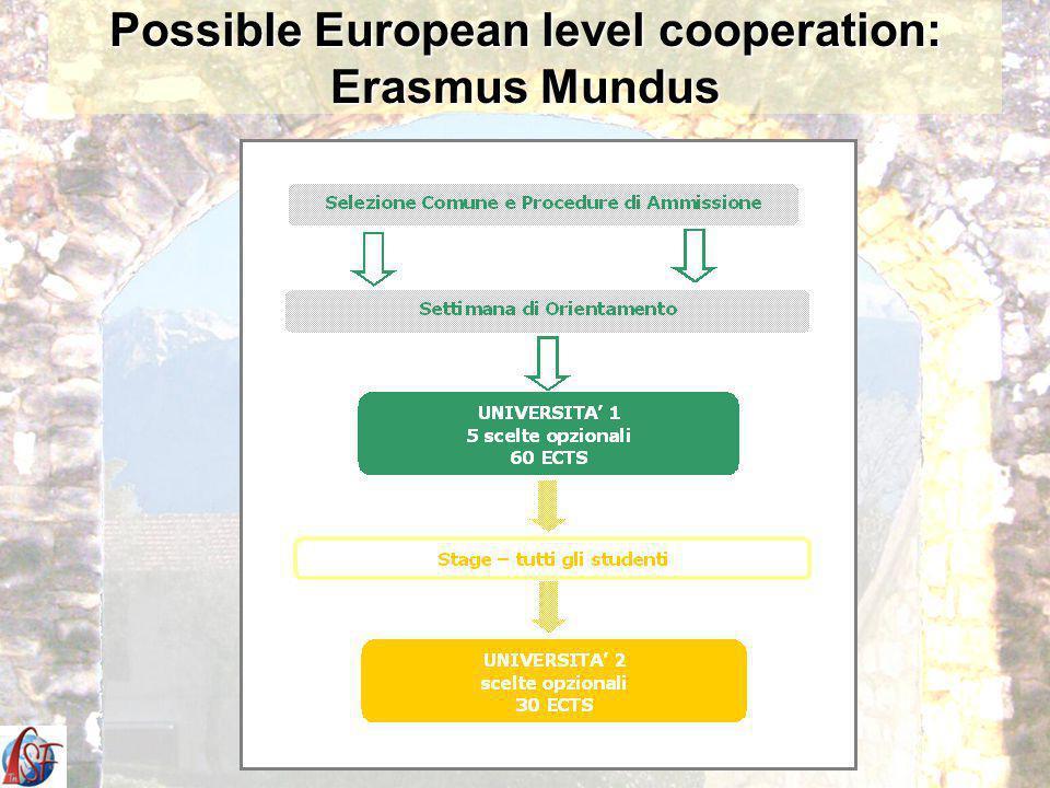Possible European level cooperation: Erasmus Mundus