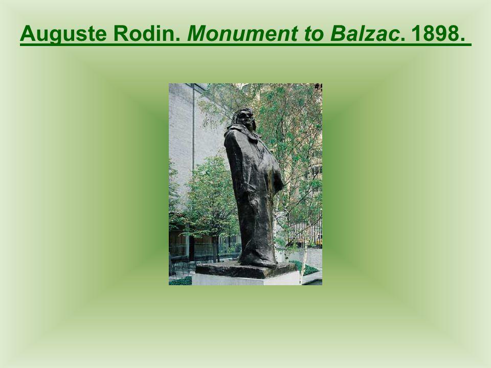 Auguste Rodin. Monument to Balzac. 1898.