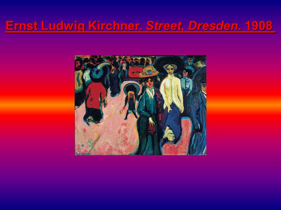 Ernst Ludwig Kirchner. Street, Dresden. 1908