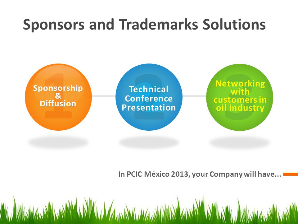 Sponsors and Trademarks Solutions In PCIC México 2013, your Company will have...