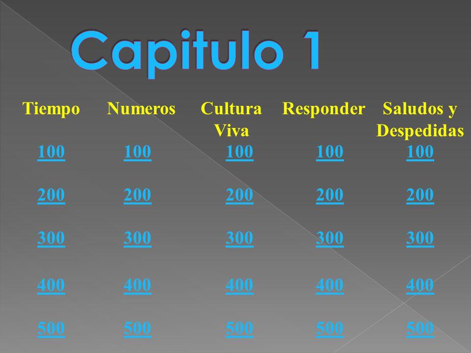 TiempoNumerosCultura Viva ResponderSaludos y Despedidas 100 200 300 400 500 100 200 300 400 500 100 200 300 400 500 100 200 300 400 500 100 200 300 400 500