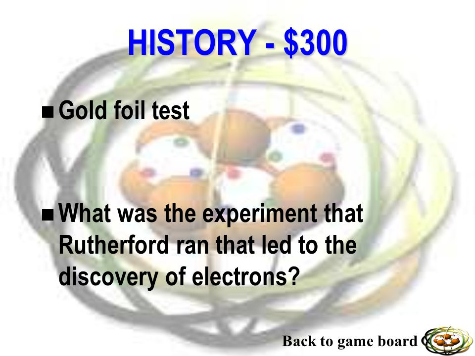 HISTORY - $200 n Mendeleev n Who was the father of the modern periodic table and first grouped elements together.