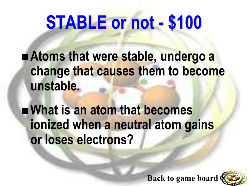HISTORY - $500 n 2400 BC n When was the first description of the atom attempted.
