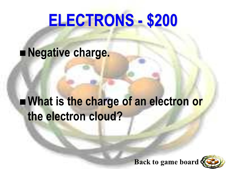 ELECTRONS - $100 n 1/2000 th the mass.