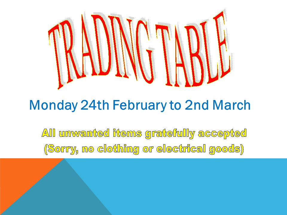 Monday 24th February to 2nd March