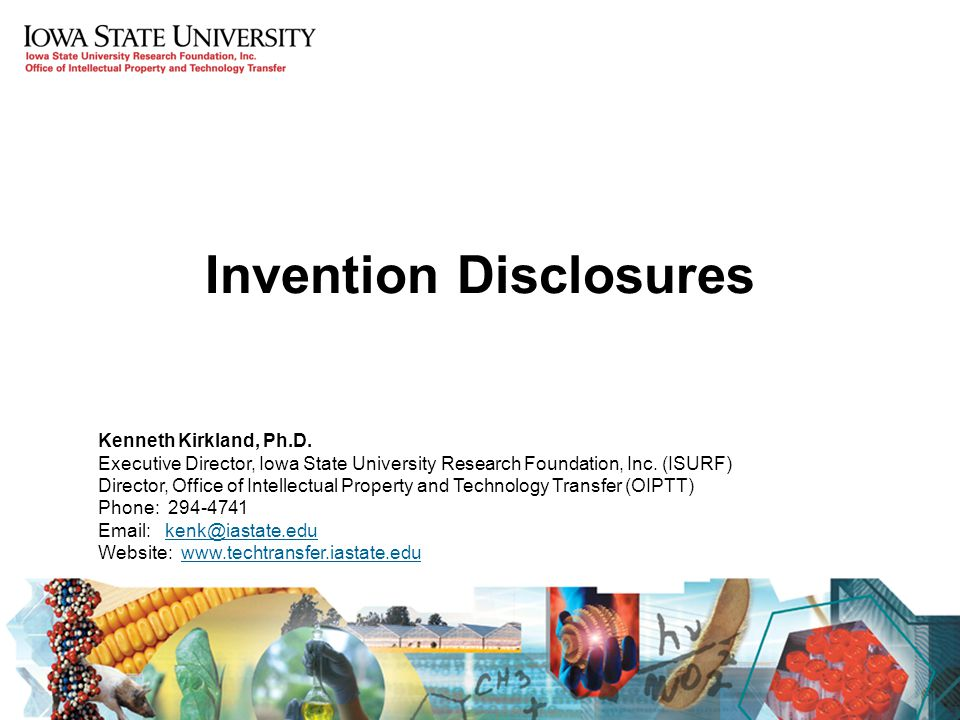 Invention Disclosures Kenneth Kirkland, Ph.D.