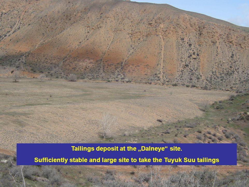 Tailings deposit at the Dalneye site.