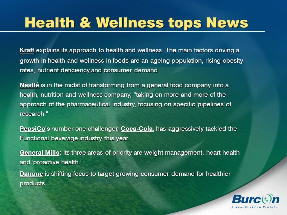Health & Wellness tops News Kraft explains its approach to health and wellness.