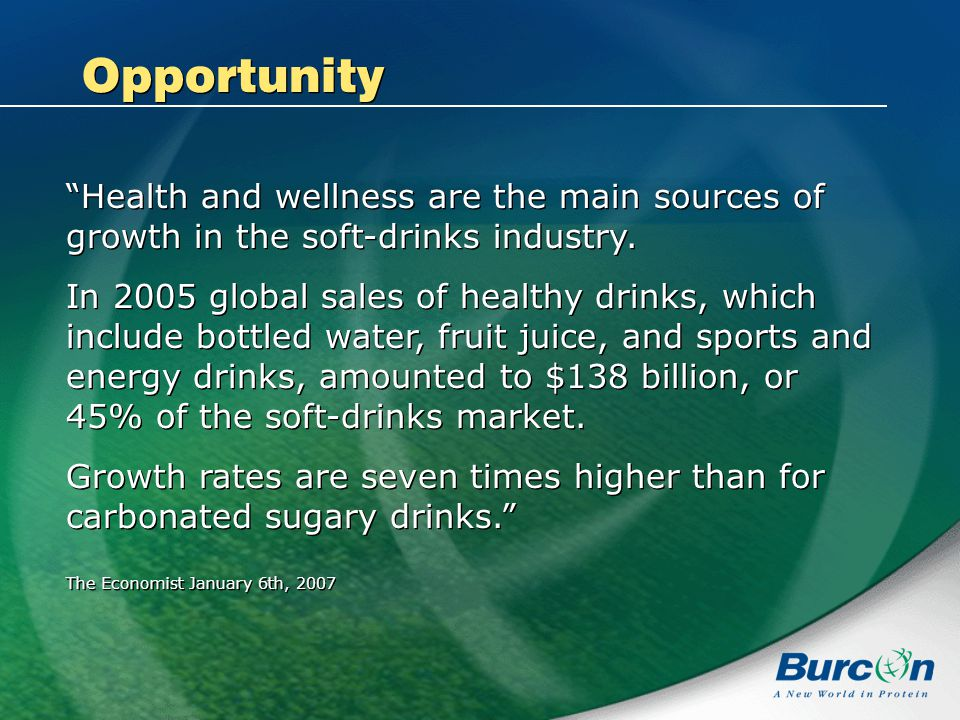 Health and wellness are the main sources of growth in the soft-drinks industry.