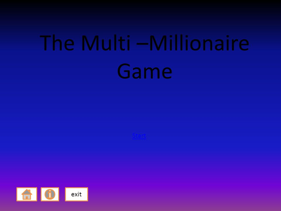 The Multi –Millionaire Game exit Start
