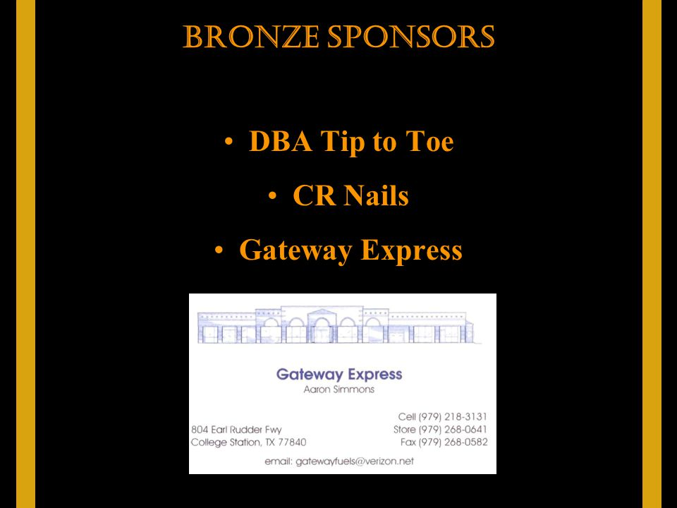 DBA Tip to Toe CR Nails Gateway Express