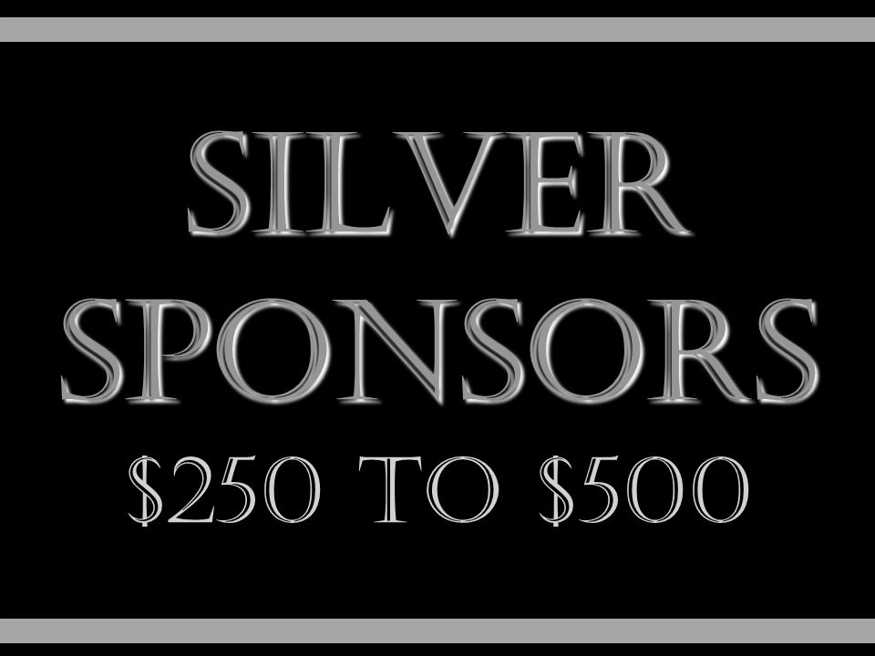 silver Sponsors $250 to $500
