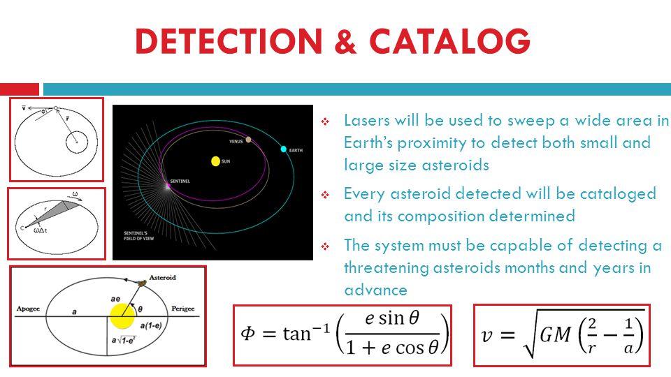 DETECTION, CATALOGING, & COMPOSITION 1 LD = 238,900 miles 1km/s = 2,237 mph http://neo.jpl.nasa.gov/ca/ Iron Cobalt Iridium