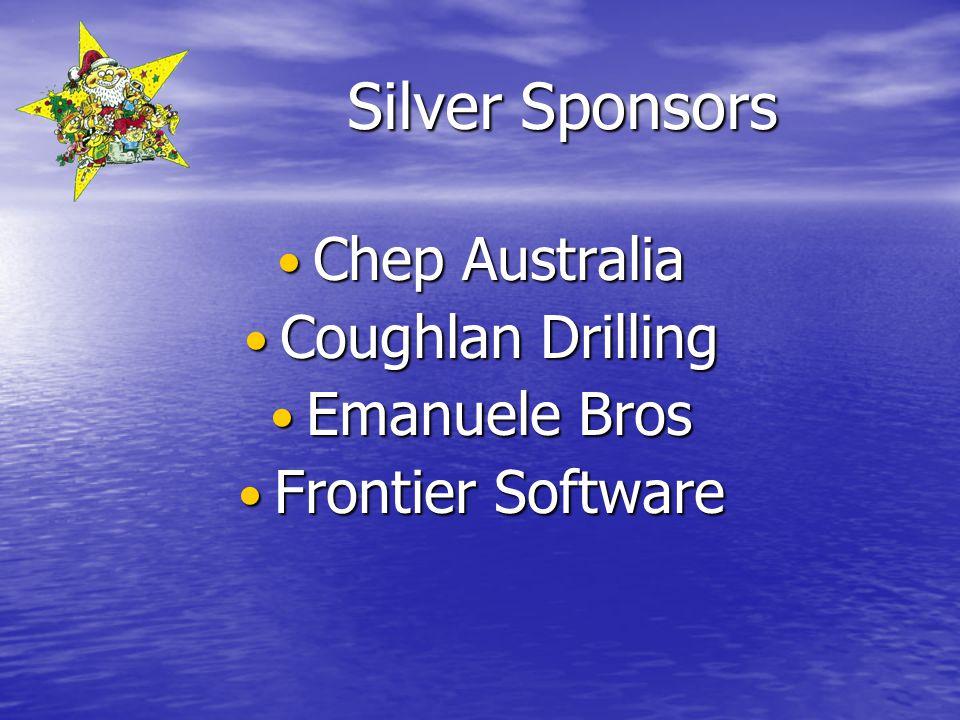 Silver Sponsors Chep Australia Chep Australia Coughlan Drilling Coughlan Drilling Emanuele Bros Emanuele Bros Frontier Software Frontier Software