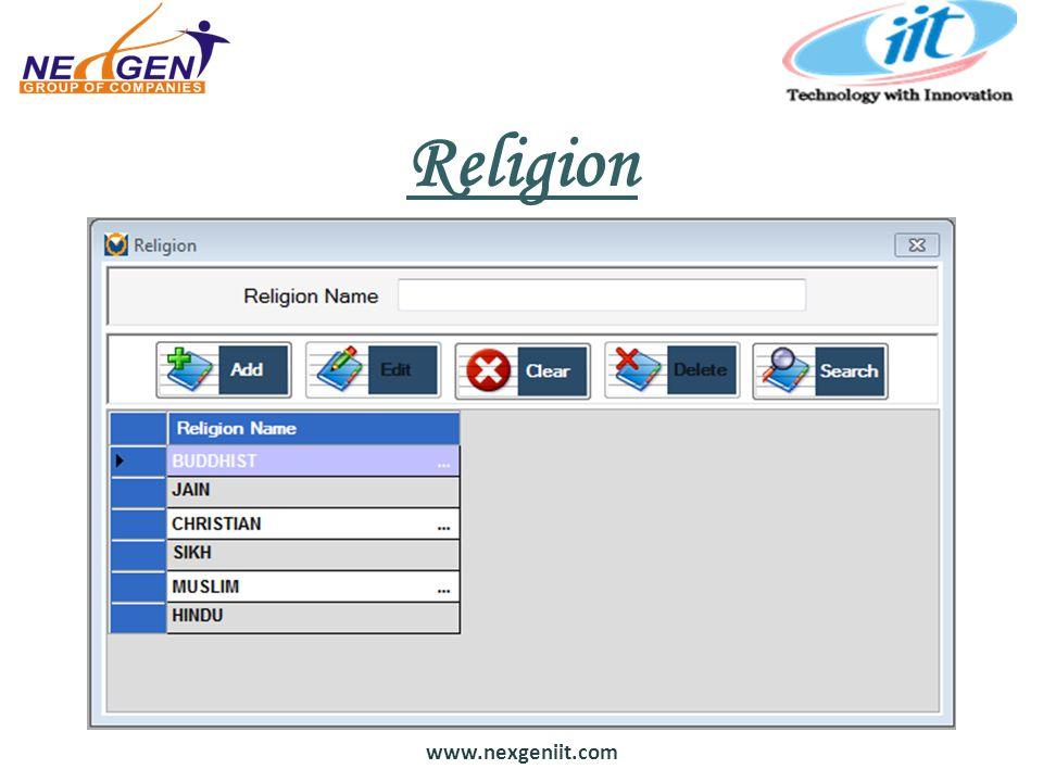 www.nexgeniit.com Religion