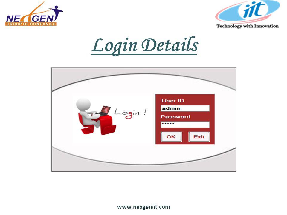 www.nexgeniit.com Login Details