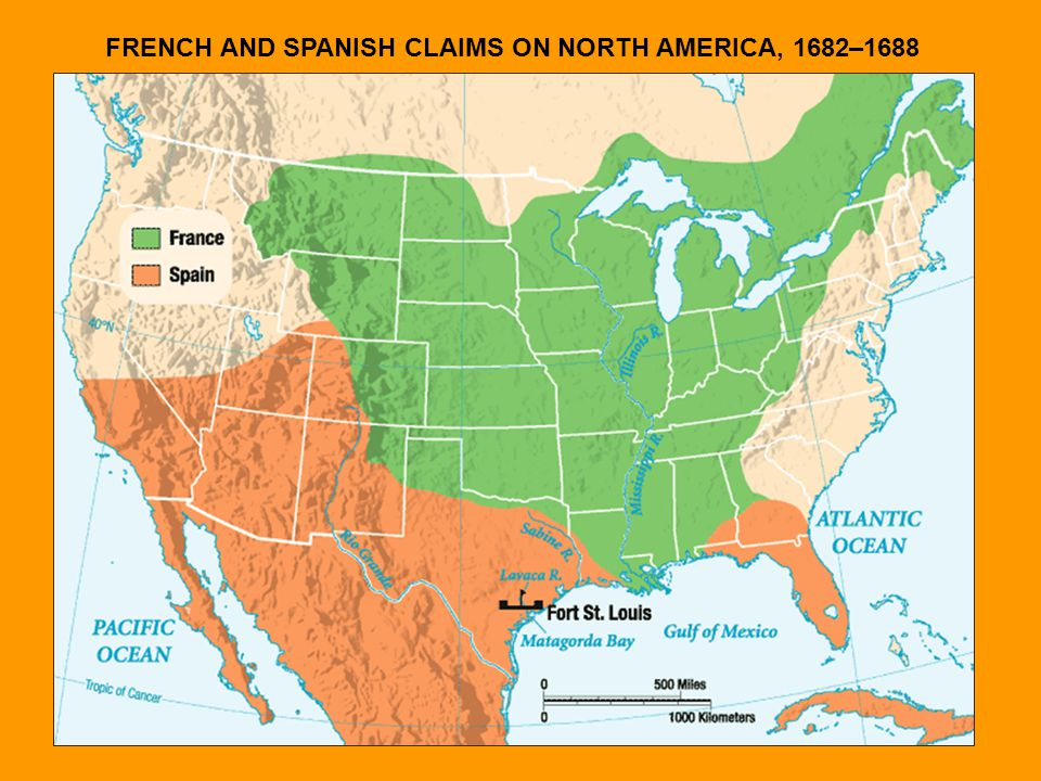 FRENCH AND SPANISH CLAIMS ON NORTH AMERICA, 1682–1688