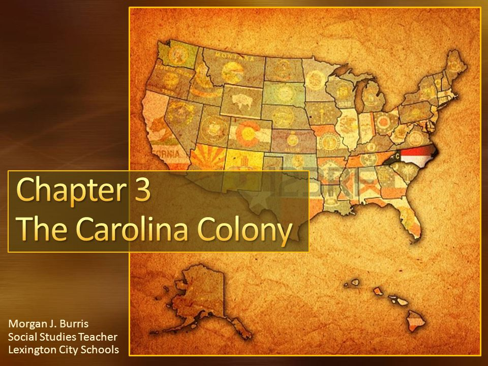 From what colony did farmers move South from to colonize Carolina.