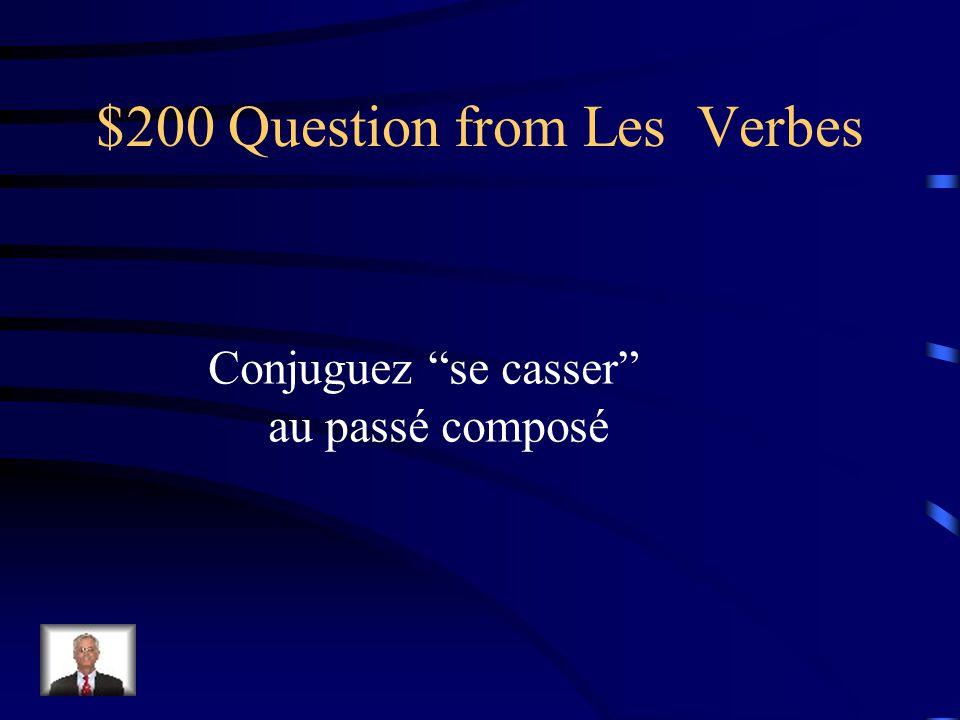 $100 Answer from Les Verbes commençais commencions commençais commenciez commençait commençaient.