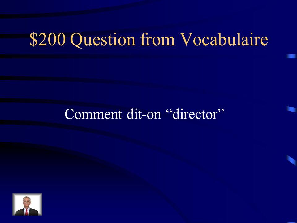 $200 Question from Participes Passés Donnez le participe passé de pleuvoir