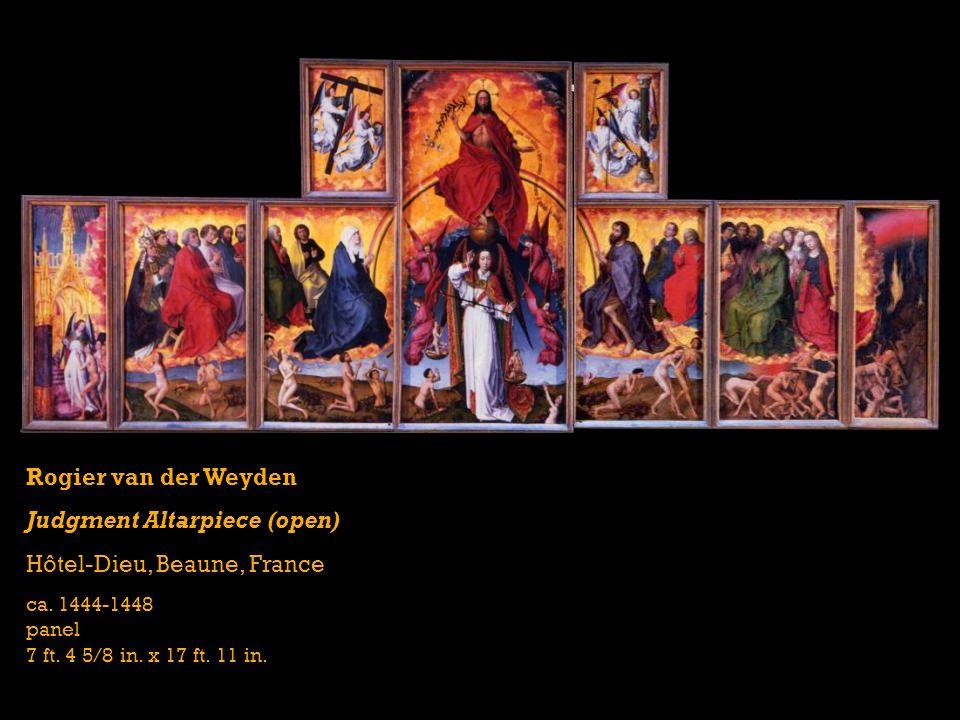 Rogier van der Weyden Judgment Altarpiece (open) Hôtel-Dieu, Beaune, France ca.