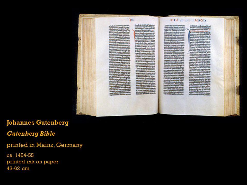Johannes Gutenberg Gutenberg Bible printed in Mainz, Germany ca.
