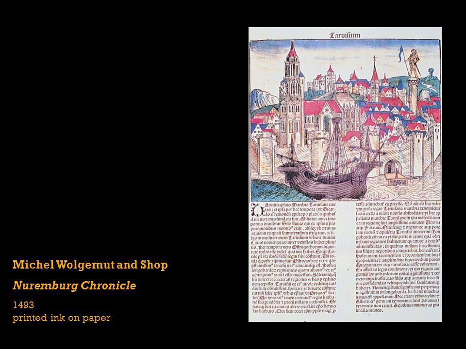 Michel Wolgemut and Shop Nuremburg Chronicle 1493 printed ink on paper