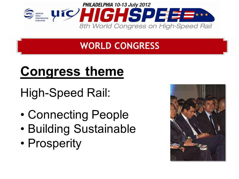 WORLD TRADE EXHIBITION The trade exhibition at UIC HIGHSPEED 2012: the largest trade exhibition in the world dedicated to high- speed rail equipment, infrastructure products and services.