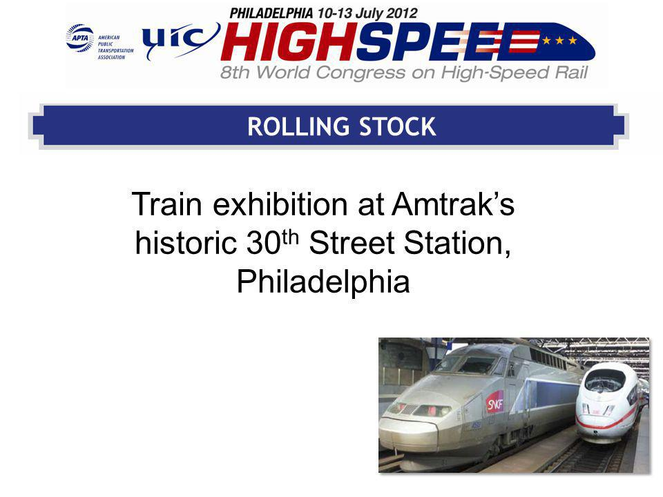 ROLLING STOCK Train exhibition at Amtraks historic 30 th Street Station, Philadelphia