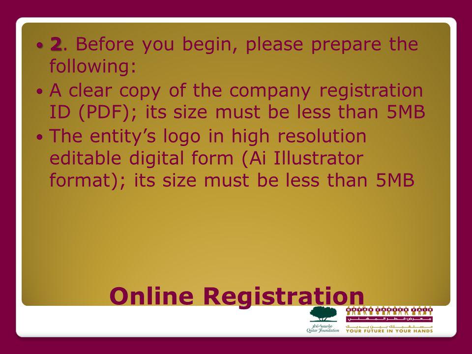 Online Registration 2 2.