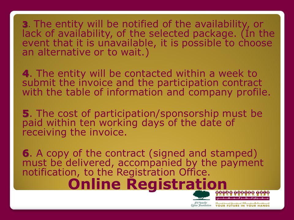 Online Registration 3 3.