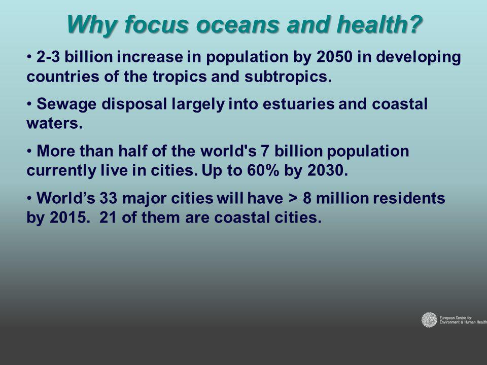 Why focus oceans and health.