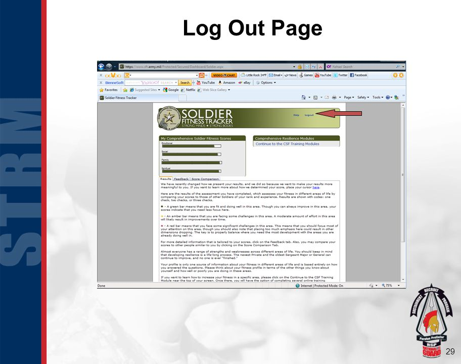 29 Log Out Page