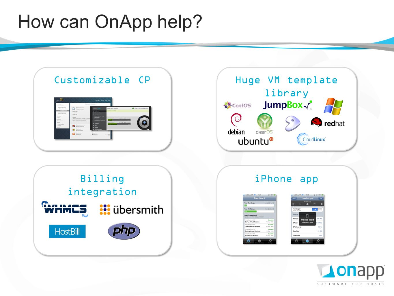 How can OnApp help?