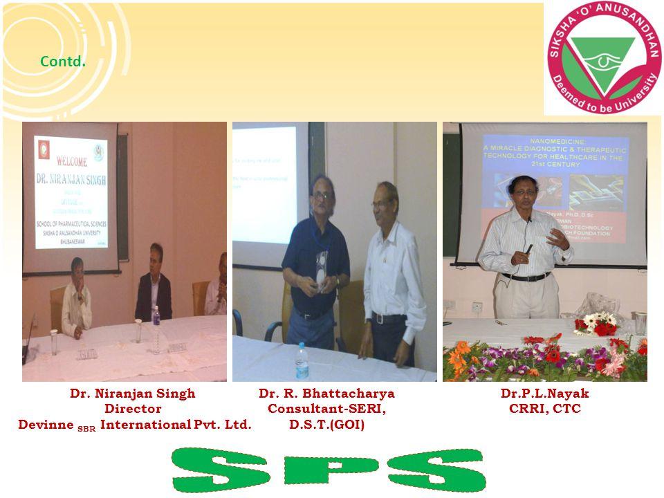 Contd. Dr. Niranjan Singh Director Devinne SBR International Pvt. Ltd. Dr. R. Bhattacharya Consultant-SERI, D.S.T.(GOI) Dr.P.L.Nayak CRRI, CTC