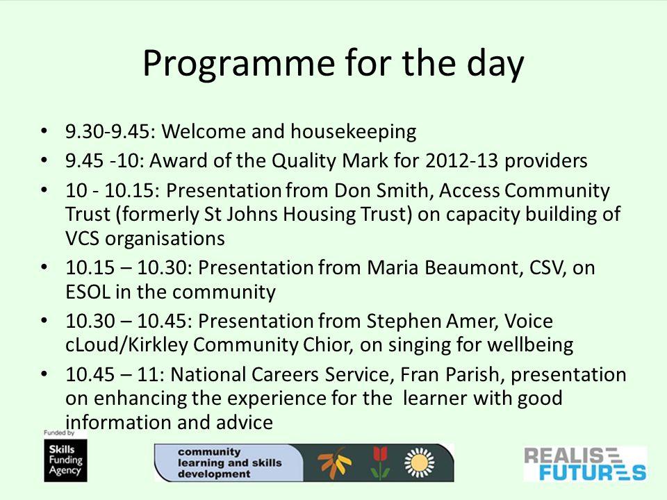 Programme continued...11 -11.20 COFFEE BREAK.