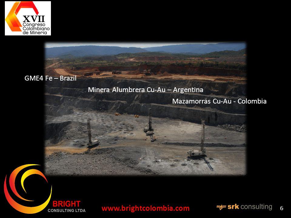 6 GME4 Fe – Brazil Minera Alumbrera Cu-Au – Argentina Mazamorras Cu-Au - Colombia