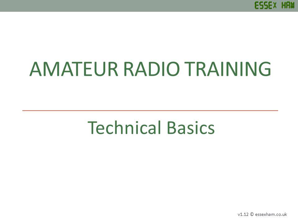 TECHNICAL BASICS Units, Symbols and Circuits Conductors & Insulators Formulas Frequency / Wavelength