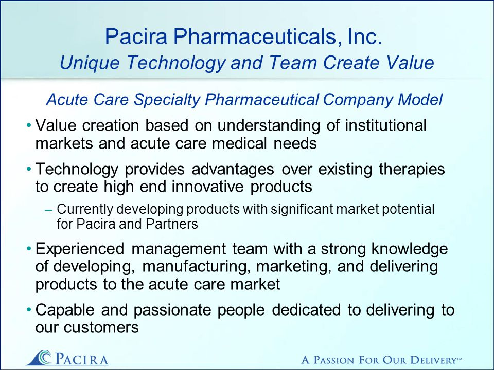 Pacira Pharmaceuticals, Inc.