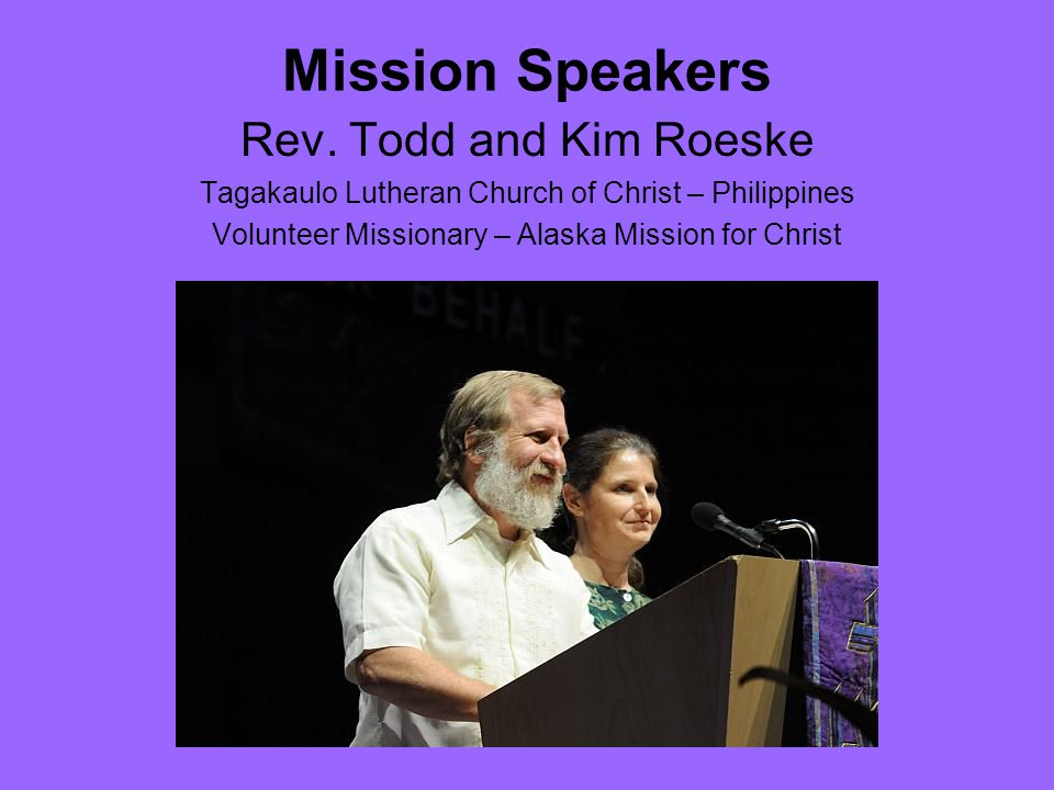 Mission Speakers Rev.