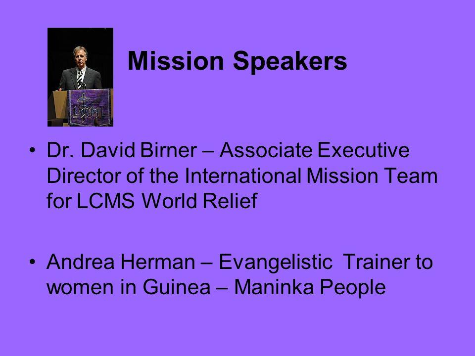 Mission Speakers Dr.