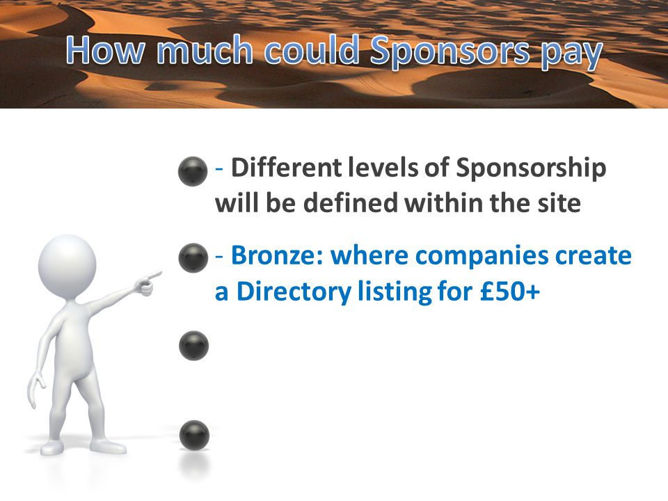 - Bronze: where companies create a Directory listing for £50+