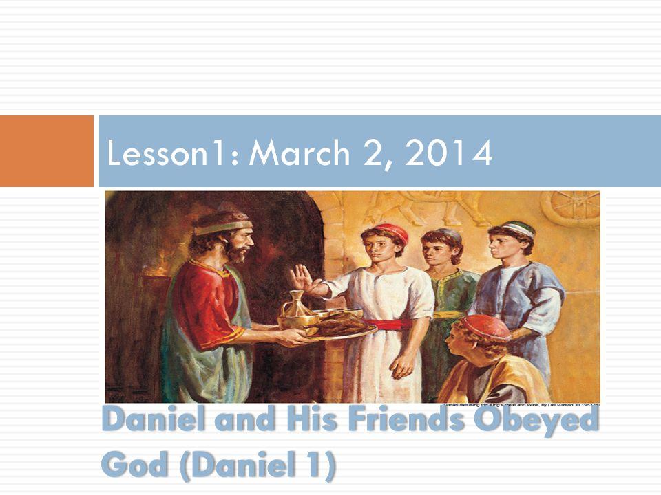 Lesson1: March 2, 2014