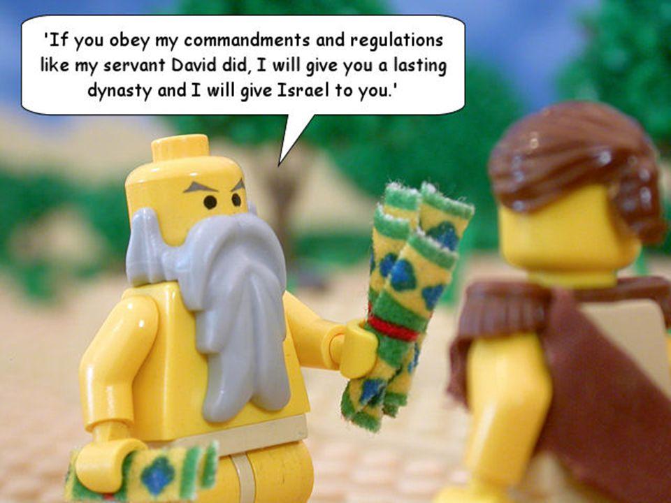 God Said he would establish his throne IF......