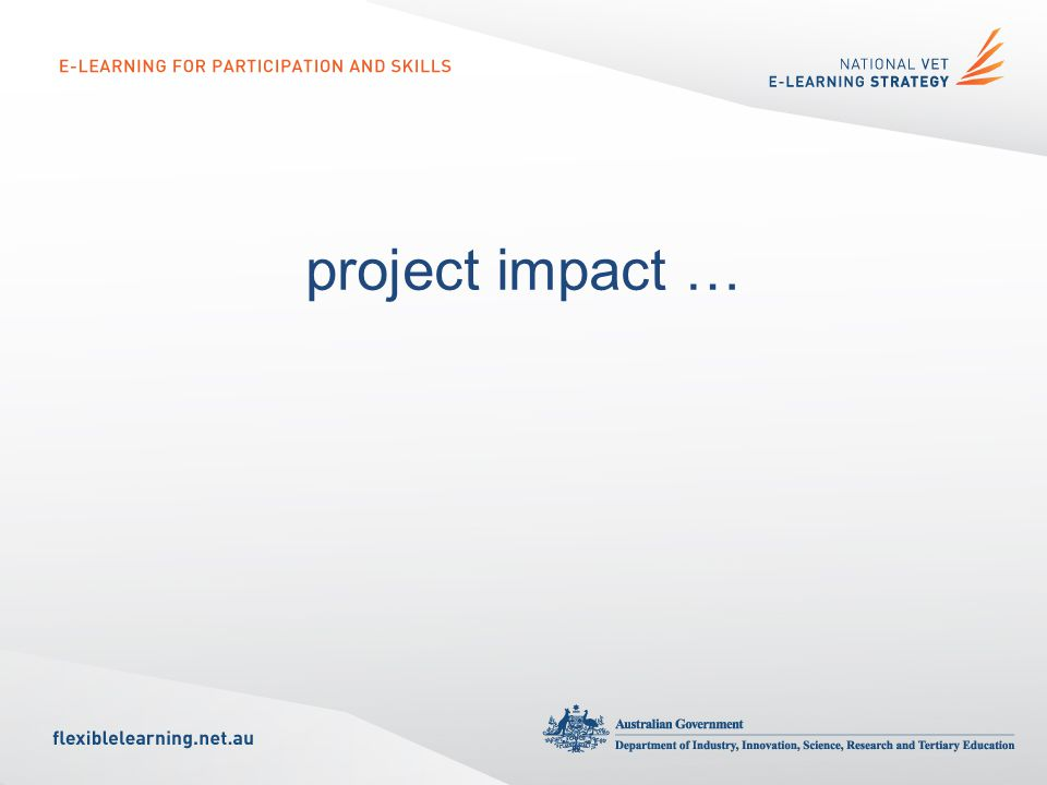 project impact …