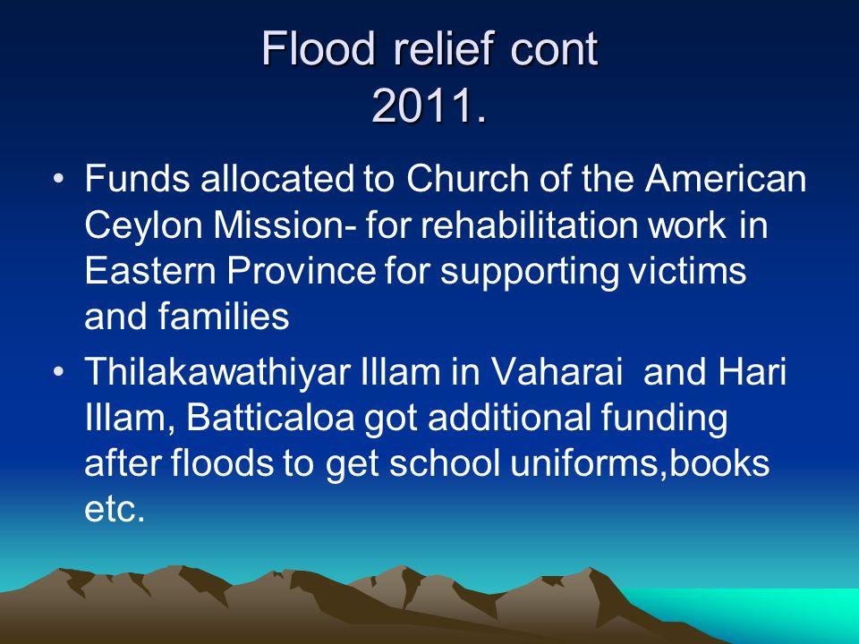 Flood relief cont 2011.