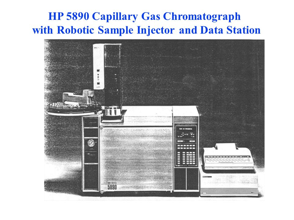 HP 5890 Capillary Gas Chromatograph with Robotic Sample Injector and Data Station