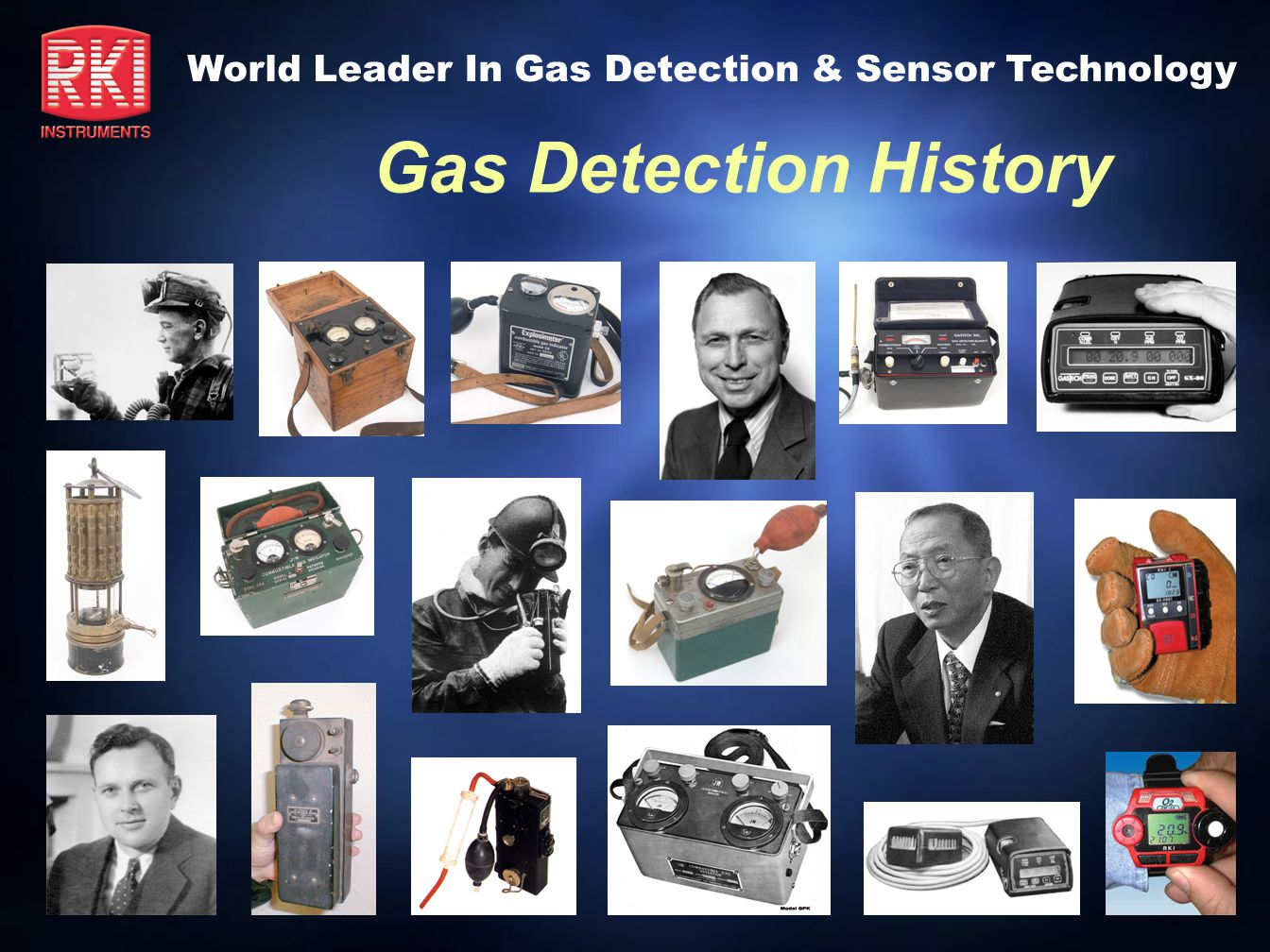 Gas Detection History MSA Explosimeter Model 2A 1935 Introduction MSA s 2nd design Popular rugged unit, still in use today Uses 8 D-cell batteries Used unbalanced bridge circuit (no reference filament)