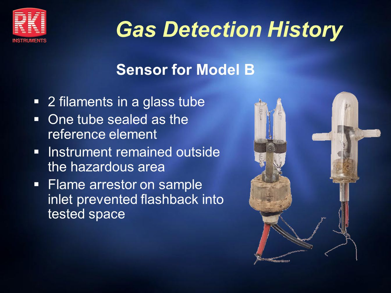 Gas Detection History Riken Model GX-86 1986 Introduction World s first 4 gas belt worn portable unit LEL/02/CO/H2S Extender cable for sensors available Dominated market for many years Still sold today